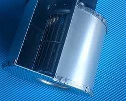 Dubbel aanzuigende ventilator motor uitwendig links