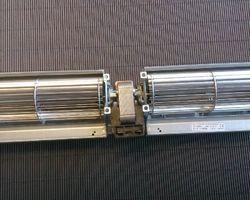 Dwarsstroom ventilator 2x180